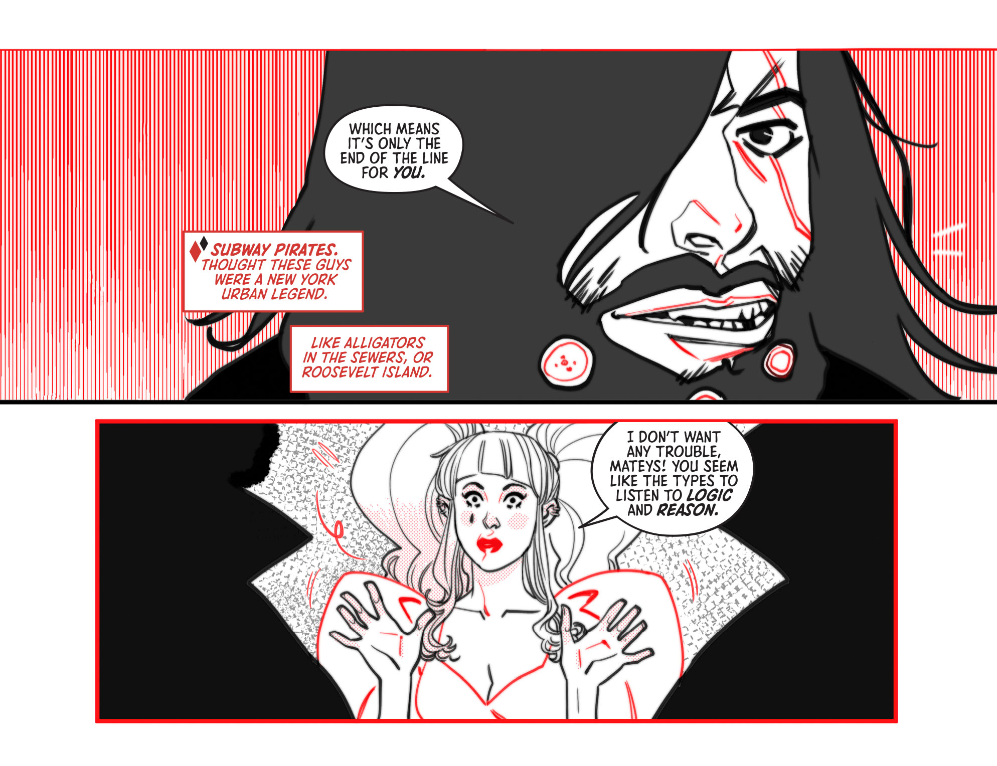 Harley Quinn Black White Red 2020 Chapter 8 Page 9