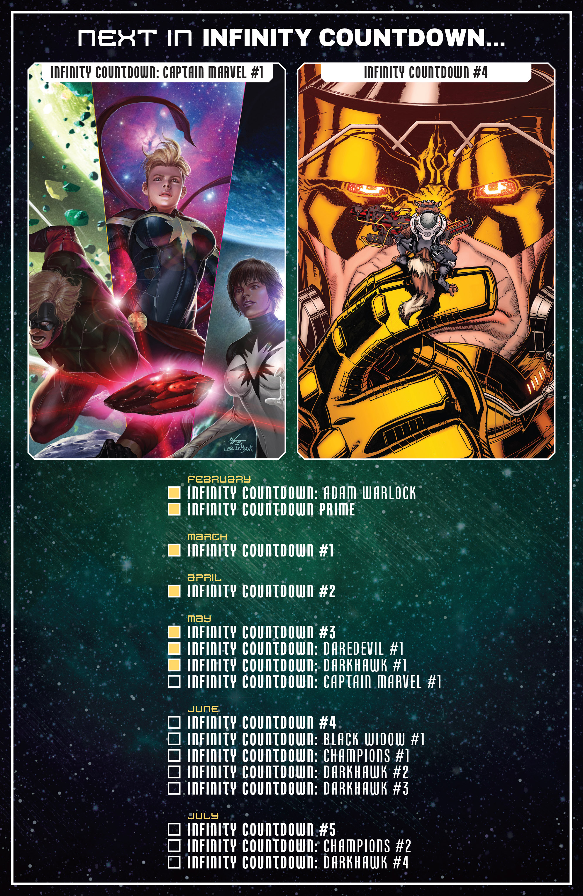 Infinity Countdown Darkhawk #2 Marvel Comics