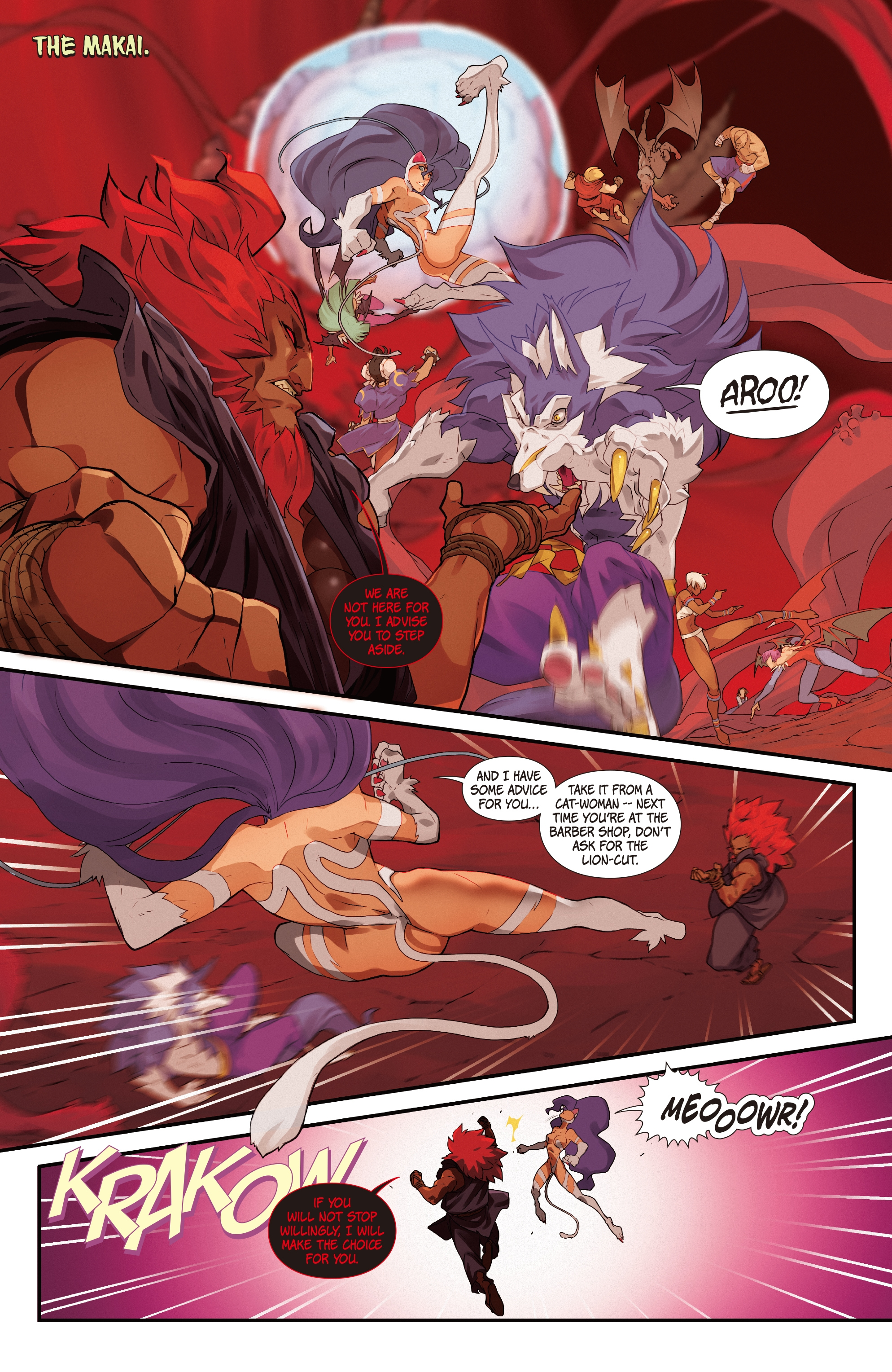 Street Fighter Vs Darkstalkers 2017 Chapter 7 Page 3